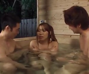 Sex in the saune along two guys for Iroha Suzumura