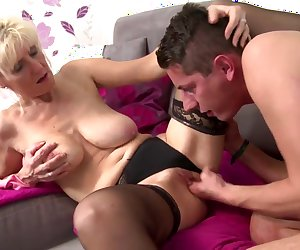 Hot real mom fucked by