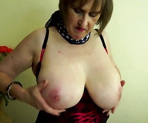 Busty real granny with thirsty