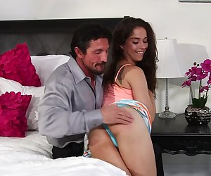 The flexible Ziggy Star fucked by her step dad
