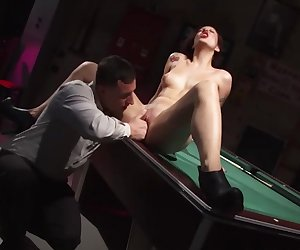 Pool hall slut