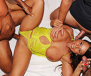 real gangbang with extreme busty stepmom