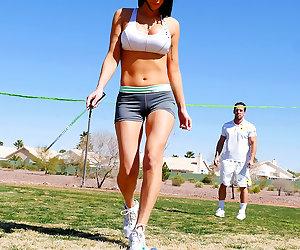 Her Tennis Instructor