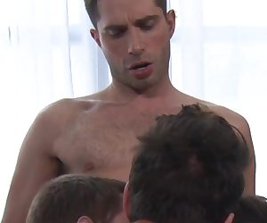 Michael Lucas, Seth Roberts, Dirk Wakefield, and Seamus O'Reilly Have Bareback Sex
