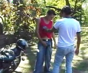 Fabio and Armando Outdoor Hook Up