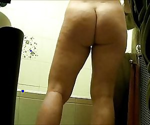 Wife in bathroom 2.
