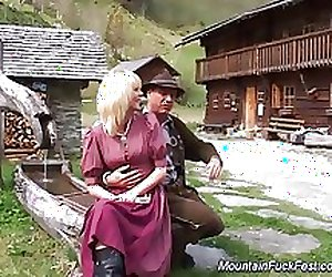 MILF's first anal in the mountain