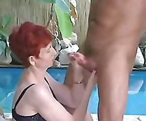 Mature Redhead Having Fun