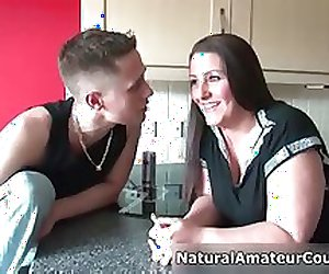 Busty amateur slut gets horny showing part1
