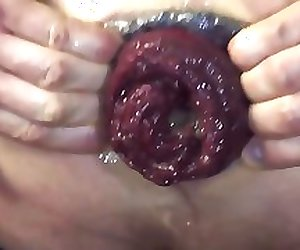 Anal fisting to the elbow my slave.