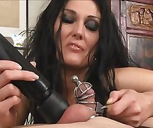 Amazing Ruined Orgasm in Cage by supreme Mistress