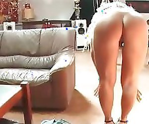 Curly blonde slut got spanked badly part5