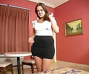 Katie Cummings: Step-Sister in Yellow Bra & Panties