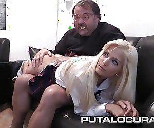 PUTA LOCURA Spanking a Czech Schoolgirl Teen