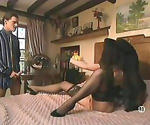 Classic French Scenes - Ladies In Basque & Stockings