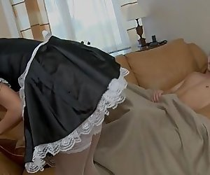 Naughty maid likes sex in butt