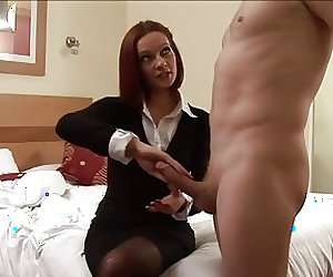 British Milf teaches how to control cock