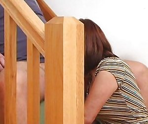 Fucking on the stairs