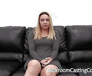 Cute Waitress Creampie on Casting Couch
