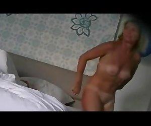 Big ass Wife on hotel bath hidden cam.