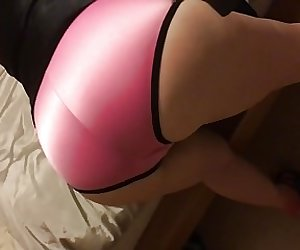 Satin Slut Spanked With Riding Crop
