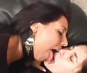 Smoking LezDom Kissing