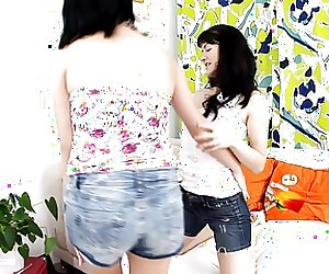 Sensual lesbian scene with Minnie and Lina A by Sapphic
