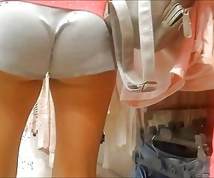 Cute Juicy Russian Teen Ass with Upshorts