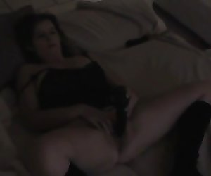 My wife with her black vibrator  ( 10 years ago )