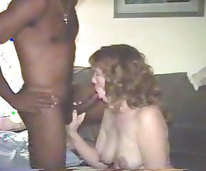 Wife luvs sucking black cock!!