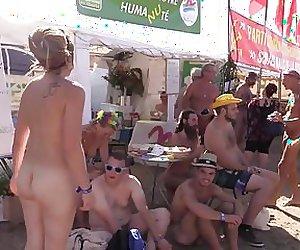 Nude on a public festival