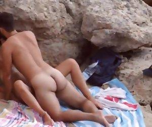 Hidden cam girlfriend outdoor