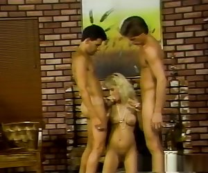 Hottest pornstar in amazing threesomes, blonde adult clip