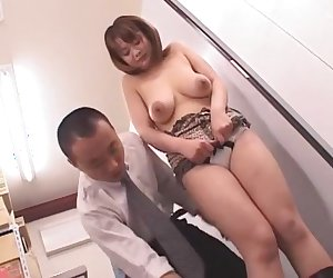Crazy Japanese whore Meguru Kosaka in Amazing Cougar, Fingering JAV movie