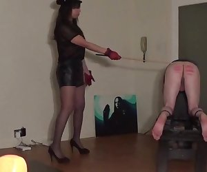 A hard caning from miss sultrybelle 90 strokes